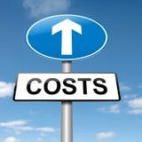 Conceito do aumento do custo. Foto de Stock Royalty Free