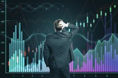 Conceito do aumento e da finan?a fotos de stock