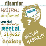 Conceito do autismo Imagens de Stock Royalty Free