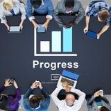 Conceito do avanço da melhoria do desenvolvimento do progresso fotos de stock