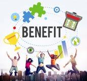Conceito do bônus da recompensa da compensação da vantagem do benefício imagem de stock
