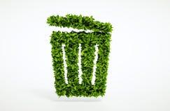 Conceito do balde do lixo da ecologia Fotos de Stock Royalty Free