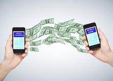 Conceito do banco móvel Imagens de Stock