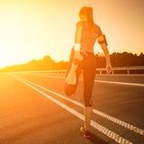 Conceito do bem-estar da aptidão e do exercício foto de stock