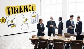 Conceito do benefício da economia do investimento do dinheiro da finança foto de stock