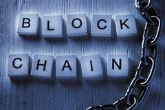 Conceito do blockchain da tecnologia de rede da distribuição branco Darknet foto de stock royalty free