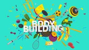 Conceito do body building Fotografia de Stock Royalty Free