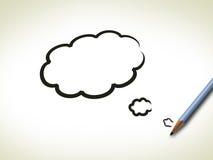 Conceito do Brainstorm com curso da escova ilustração do vetor