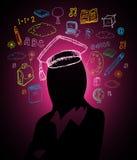 Conceito do brainstorm da educação ilustração royalty free