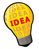 Conceito do bulbo da ideia Ilustração Stock
