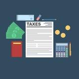 Conceito do cálculo do imposto Foto de Stock