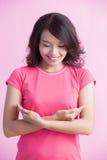 Conceito do câncer da mama da prevenção fotografia de stock