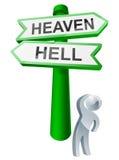 Conceito do céu ou do inferno ilustração royalty free