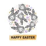 Conceito do círculo com cabeça do coelho Imagens de Stock Royalty Free