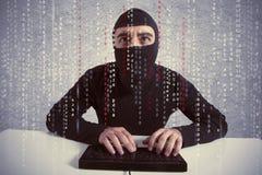 Conceito do vírus do cabouqueiro e de computador Fotografia de Stock Royalty Free