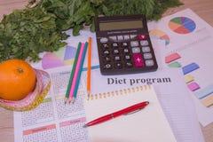 Conceito do café da manhã da perda de peso da dieta com fita métrica, Libra Dieta e nutrition Conceito de controle do peso Foto de Stock