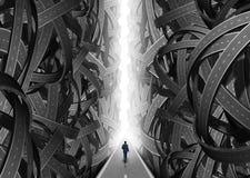 Conceito do caminho da confusão ilustração do vetor