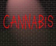 Conceito do cannabis. Imagem de Stock Royalty Free