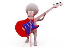conceito do cantor do homem 3d Imagem de Stock