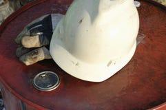 Conceito do capacete de segurança imagem de stock