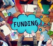 Conceito do capital do orçamento do investimento da doação do financiamento imagens de stock royalty free