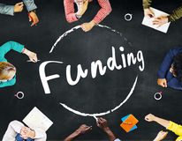 Conceito do capital do orçamento do investimento da doação do financiamento imagem de stock royalty free