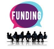 Conceito do capital do orçamento do investimento da doação do financiamento ilustração stock