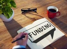 Conceito do capital do orçamento do investimento da doação do financiamento imagem de stock