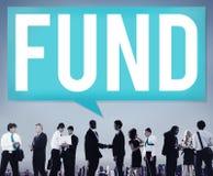 Conceito do capital do orçamento do investimento da doação do financiamento do fundo fotos de stock royalty free