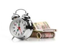 Conceito do carro da compra do tempo (carro feito do dólar) Imagem de Stock