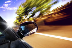 Conceito do carro do curso Foto de Stock
