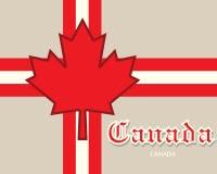 Conceito do cartão de Canadá Foto de Stock