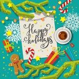 Conceito do cartão de Natal Foto de Stock