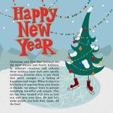 Conceito do cartão do ano novo. Foto de Stock