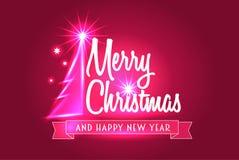 Conceito do cartão do Feliz Natal Fotos de Stock