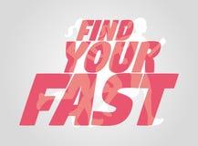Conceito do cartaz com a silhueta running das mulheres Fotografia de Stock
