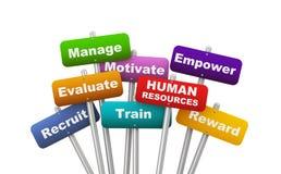 conceito do cartaz 3d de recursos humanos Fotos de Stock