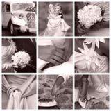 Conceito do casamento - colagem Foto de Stock Royalty Free