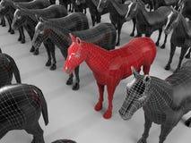 Conceito do cavalo do alvo ilustração do vetor