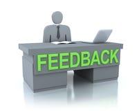 Conceito do centro do feedback ilustração royalty free
