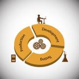 Conceito do ciclo de vida da programação de software Imagens de Stock