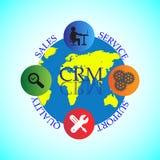 Conceito do ciclo de vida de CRM Imagem de Stock