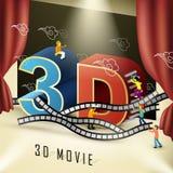 conceito do cinema 3d Imagens de Stock Royalty Free