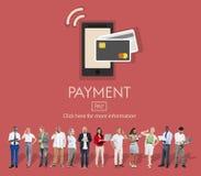Conceito do cliente do crédito de operação bancária do equilíbrio do pagamento do pagamento fotografia de stock royalty free