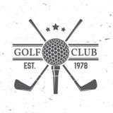 Conceito do clube de golfe ilustração royalty free