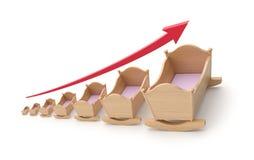 Conceito do coeficiente de natalidade Imagem de Stock