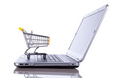 Conceito do comércio electrónico Imagem de Stock