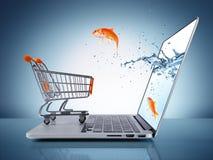 Conceito do comércio electrónico Fotografia de Stock