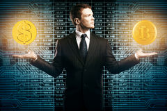 Conceito do comércio eletrónico e da escolha Imagens de Stock Royalty Free