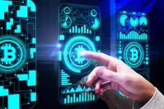 Conceito do comércio eletrônico e do negócio Foto de Stock
